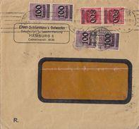 DR Brief Mif Minr.4x 289, 2x 303 Hamburg 8.10.23 - Deutschland