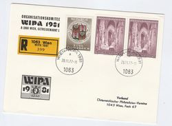 1977 Registered 'WIPA 1981 WIEN' COVER From ORGANISING COMMITTEE Austria,  Church Stamps Philatelic Exhibition Religion - 1971-80 Covers