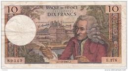 BILLETE DE FRANCIA DE 5 FRANCS DEL 7-12-1967 (BANKNOTE) VOLTAIRE - 1962-1997 ''Francs''