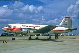 Aviation Postcard-542 CSA -Ilyushin IL-14 OK-LCA - 1946-....: Moderne