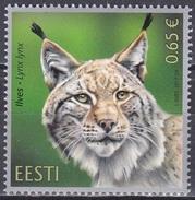 Estland Eesti 2017 Tiere Fauna Animals Raubkatzen Luchs Big Cats Lynx, Mi. 901 ** - Estonia