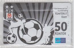 TURKEY 2012 FOOTBALL CLUB BESIKTAS 2 USED PHONE CARDS - Sport