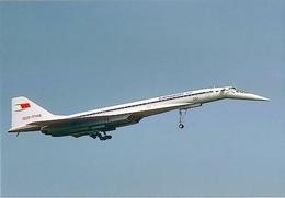 Aviation Postcard-545 AEROFLOT Tupolev TU-144 - 1946-....: Moderne