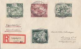 DR R-Brief Mif Minr.833,837,840,843 Leipzig 26.4.43 - Briefe U. Dokumente