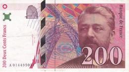 BILLETE DE FRANCIA DE 200 FRANCS DEL AÑO 1996 DE EIFFEL  (BANKNOTE) - 1992-2000 Ultima Gama