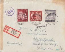 DR R-Brief Mif Minr.857,862,863 Königshütte-Bismarck (Oberschlesien) 21.12.43 Gel. In Slowakei Zensur - Deutschland