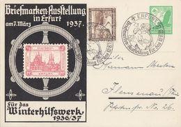 DR Privat-GS Minr.PP142 C9/02 SST Erfurt 7.3.37 Zfr. Minr.634 - Briefe U. Dokumente