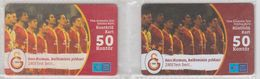 TURKEY 2012 FOOTBALL CLUB GALATASARAY 3 USED PHONE CARDS - Sport