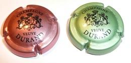 Capsule Champagne Durand Veuve Lot De 2 Rosé/noir Vert/noir - Durand (Veuve)