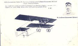 AVIATION - Sous Lieutenant MENARD Sur Biplan Farman - Aviateurs