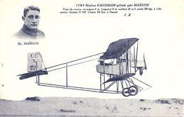 AVIATION - MAICON Sur Biplan Caudron - Airmen, Fliers