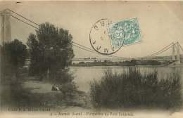 30 ARAMON  Perspective Du Pont Suspendu - Aramon