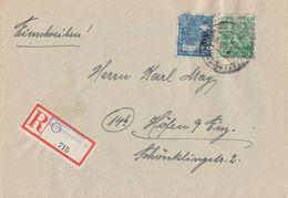 Bizone R-Brief Mif Minr.43II, 51II Pforzheim-Brötzingen - American/British Zone