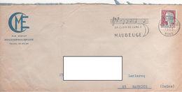 """LSC 1965 - Flamme Musique - MAUBEUGE - """"Un Clair De Lune à Maubeuge"""" - Mechanical Postmarks (Advertisement)"""