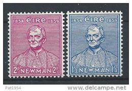 Irlande 1954 N°124/125 Neufs ** MNH Université Catholique - Nuevos