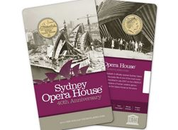 Australia 1 Dollar 2013 Sydney Opera House UNC Coin Card - Mint Sets & Proof Sets