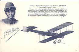 AVIATION - PALLIER Sur Biplan Astra - Airmen, Fliers