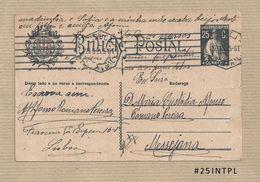 Portugal #25 Inteiro Postal Postal Stationery Circulado Lisboa /Messejana 1925 Ceres 25C - Enteros Postales