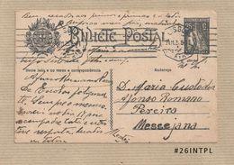 Portugal #26 Inteiro Postal Postal Stationery Circulado Lisboa /Messejana 1925 Ceres 25C - Enteros Postales