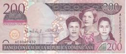 BILLETE DE REP. DOMINICANA DE 200 PESOS ORO DEL AÑO 2007 SERIE AE (BANKNOTE) - Dominicana