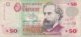 BILLETE DE URUGUAY DE 50 PESOS DEL AÑO 2003 (BANKNOTE) - Uruguay
