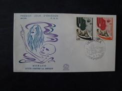Enveloppe Premier Jour Monaco Lutte Contre La Drogue 1972 - Monaco