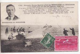 91  JUVISY   Monoplan Saulnier    Avec Vignette Souvenir De L'aviation à Juvisy - Juvisy-sur-Orge