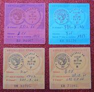 7 Timbres Fiscaux Vintage Vignettes Automobiles Différents 1962-1967 Très Propres Perpignan - Fiscaux