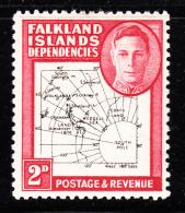 Falkland Islands Dependencies 1948 MH Scott #1L3 2p Map - Falkland
