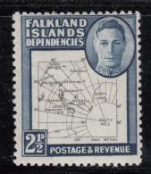 Falkland Islands Dependencies 1949 MH Scott #1L13 2 1/2p Map - Falkland