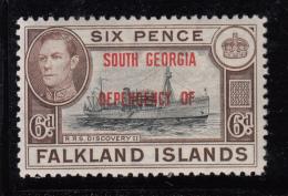 Falkland Islands Dependencies 1944 MH Scott #3L6 6p R.R.S. Discovery II South Georgia O/p - Falkland