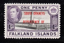 Falkland Islands Dependencies 1944 MH Scott #4L2 1p Battle Memoral South Orkneys O/p Variety - Falkland