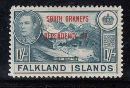 Falkland Islands Dependencies 1944 MH Scott #4L8 1sh Mount Sugar Top South Orkneys O/p - Falkland