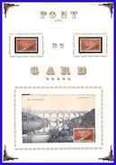 Départ 1 Euro  France N°262  Pont Du Gard + Timbre * + Timbre Oblitéré + Carte Maxi - France