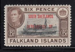 Falkland Islands Dependencies 1944 MH Scott #5L6 6p R.R.S. Discovery II South Shetlands O/p Variety - Falkland