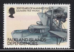 Falkland Islands Dependencies 1983 MNH Scott #1L82 17p Saunders-Roe Walrus - Falkland