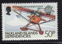 Falkland Islands Dependencies 1983 MNH Scott #1L83 50p Auster Seaplane - Falkland