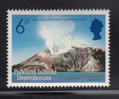 Falkland Islands Dependencies 1984 MNH Scott #1L84 6p Zavodovski Volcanic Islands - Falkland