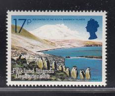 Falkland Islands Dependencies 1984 MNH Scott #1L85 17p Mt. Michael, Saunders Volcanic Islands - Volcans