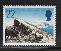 Falkland Islands Dependencies 1984 MNH Scott #1L86 22p Bellinshausen Volcanic Islands - Volcans