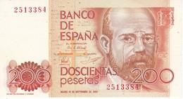 BILLETE DE ESPAÑA DE 200 PTAS DEL 16/09/1980 SIN SERIE SIN CIRCULAR  (BANKNOTE) UNCIRCULATED - [ 4] 1975-… : Juan Carlos I