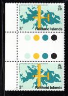 Falkland Islands 1979 MNH Scott #287 3p Britton-Norman Islander Variety SG #360w - Falkland