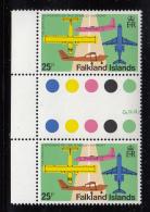 Falkland Islands 1979 MNH Scott #290 25p Fokkers F27 And F28 Variety SG #363w - Falkland