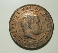 Portugal 10 Reis 1892 A D. Carlos I - Portugal