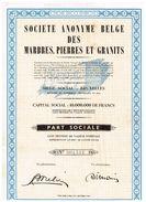 Action Ancienne - Sté Anonyme Belge Des Marbres Pierres Et Granits - Titre De 1959 - Mines