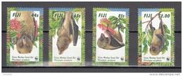 Fiji  1997,4V,set,WWF,bats,vleermuizen,fledermäuse,chauves-souris,murciélagos,pipistrelli,MNH/Postfris(D3524) - Vleermuizen