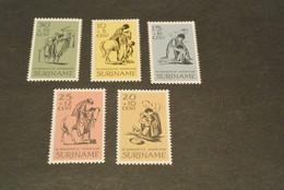 K13330- Sets  MNH Suriname 1966- SC.B132-136- The Good Samaritan - Surinam ... - 1975