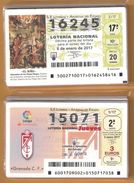 2 AÑOS COMPLETO 2017 LOTERIA NACIONAL DEL JUEVES Y SABADOS - Billetes De Lotería