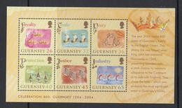 Guernsey Set Of 6, M/Sheet, Allegiance To England - 2004 Unmounted Mint NHM - Guernsey