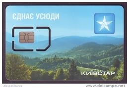 "UKRAINE. KYIVSTAR GSM. UNUSED SIM CARD WITH CHIP. ""CARPATHIAN LANDSCAPE"". PERFECT MINT CONDITION - Oekraïne"